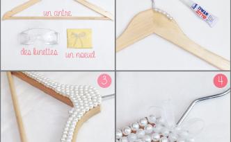 DIY cintre perlé