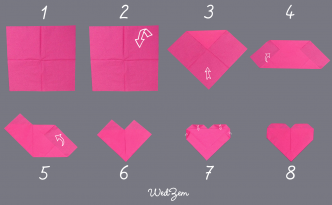 DIY pliage serviette