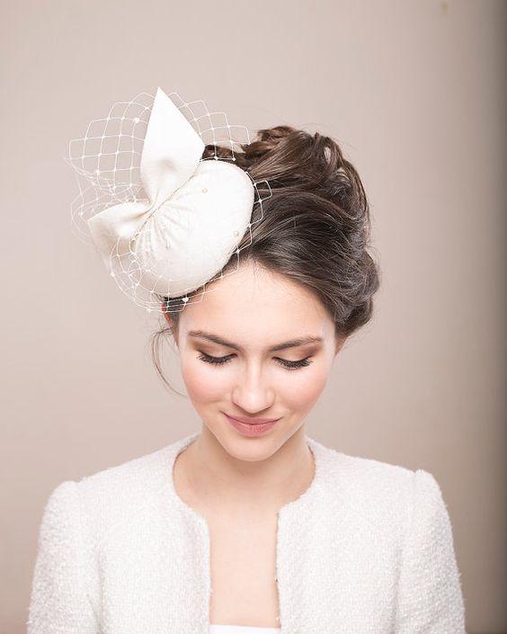 chapeau de la mariée