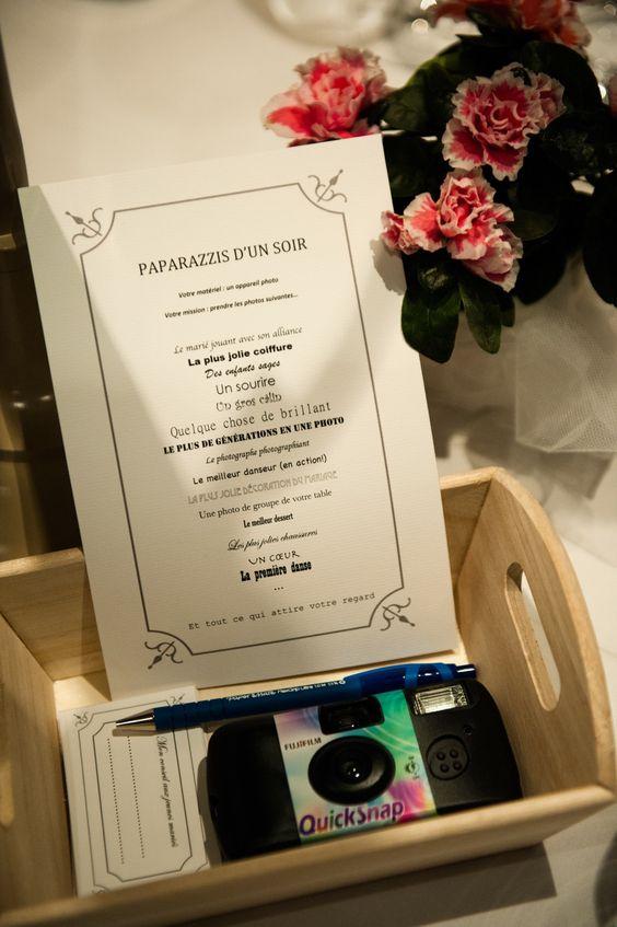 animations photos pour un mariage