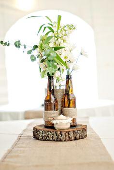 Centre de table avec bières