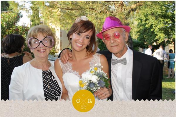 borne photo mariage
